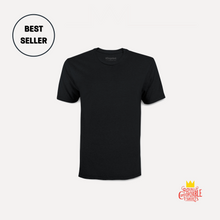 Load image into Gallery viewer, A crisp and comfortable black t-shirt.