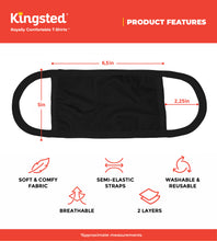 Load image into Gallery viewer, Kingsted Face Covers in Black - 5 for $25 (Adult, Large) 50/50 Blend