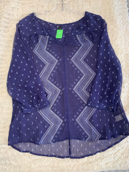 Ladies Maurices Blouse Size XL