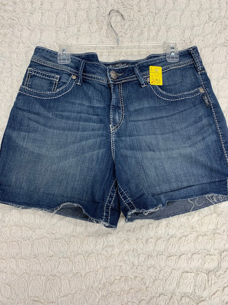 Ladies Silver Shorts Size 34