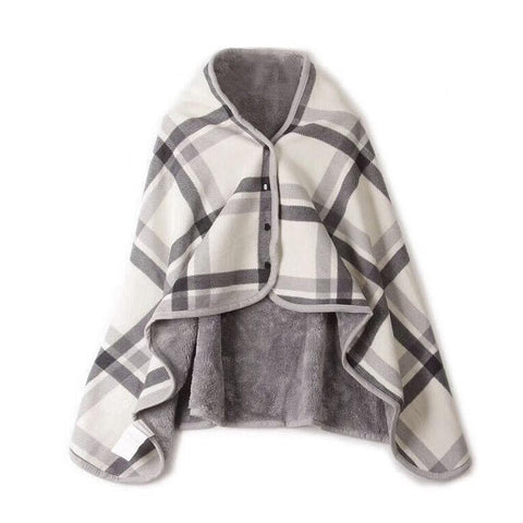 Lady Multifunction Doublelayer Tartan Plaid Blanket Scarf Wrap Shawl Winter Warm Scarves For Women High Quality