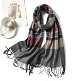 Fashion 2020 winter scarf for women cashmere shawls and wraps lady pashmina neck warm soft long size foulard men scarves blanket