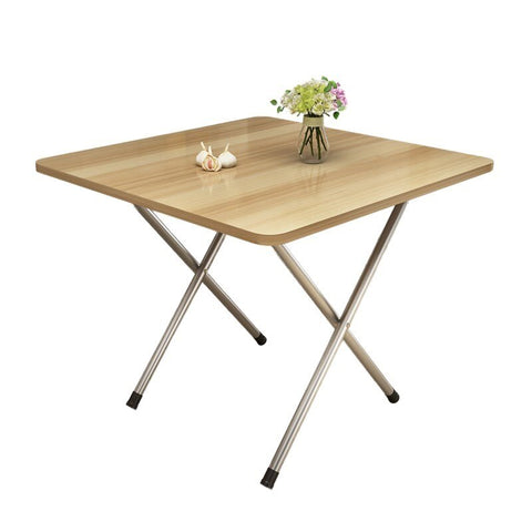 Folding Table Stand Aside Table 2 Simple Household Small Family 4 Stalls To Eat Small Portable Square Table