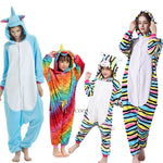Kugurumi Unicorn Pajamas Adult Animal Stitch Onesies Jumpsuit Boys Girls Women Men Winter Pajama Sleepwear Flannel Panda Pijamas