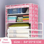 Students in bed Wardrobe Non-woven Steel frame reinforcement Standing Storage Organizer Detachable Clothing Closet furniture