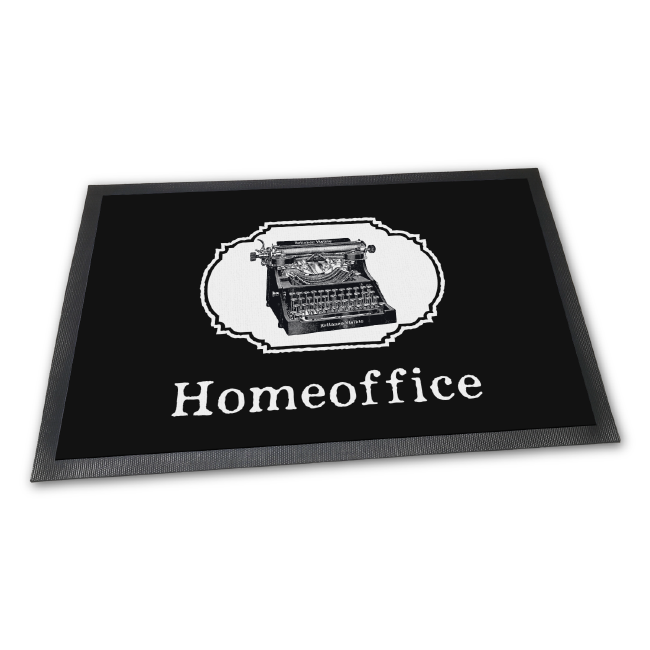 Fußmatte: Homeoffice Retro