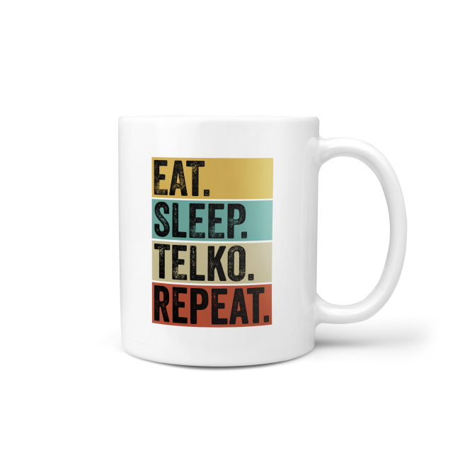 Tasse: Eat Sleep Telko Repeat