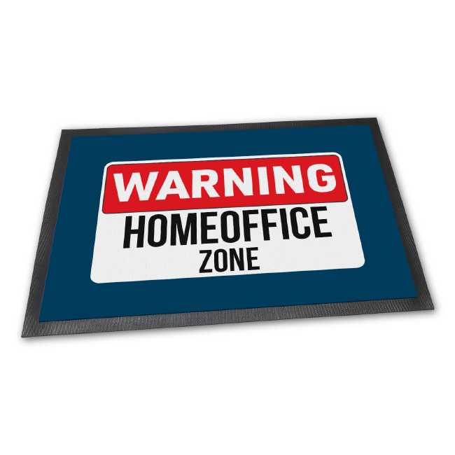 Fußmatte: Homeoffice Zone