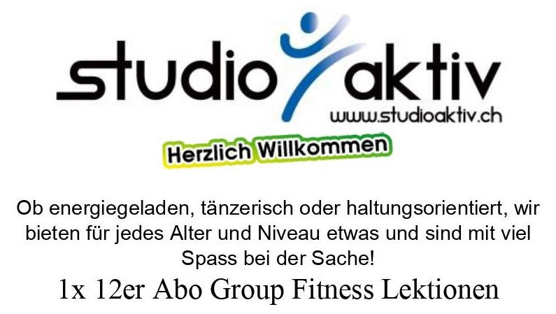 Studio Aktiv, Sissach, 1x 12er Abo Group Fitness