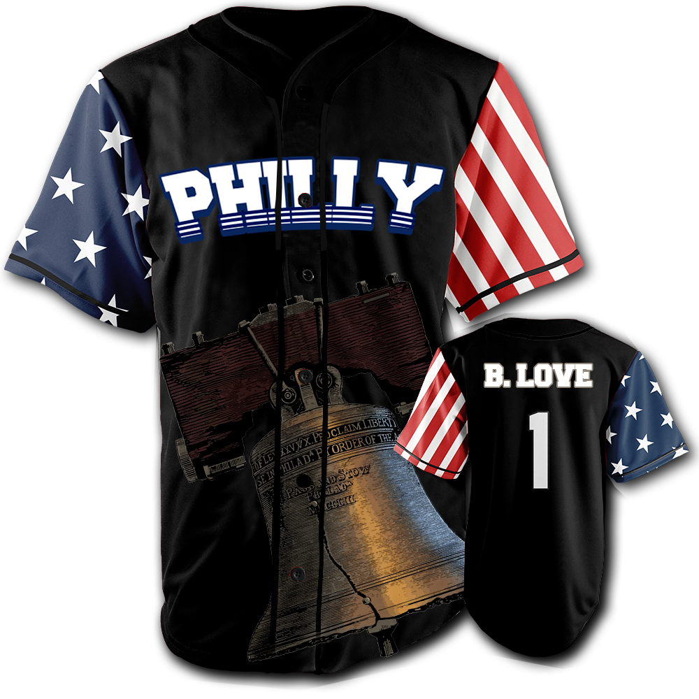 PHILLY City Jersey™️ - B. Love #1 - Black (Small-5XL)