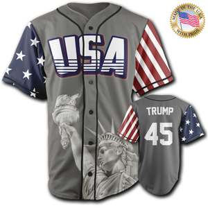 USA Freedom Jersey™️ - Trump #45 - Grey (Small-5XL)