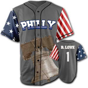PHILLY City Jersey™️ - B. Love #1 - Grey (Small-5XL)
