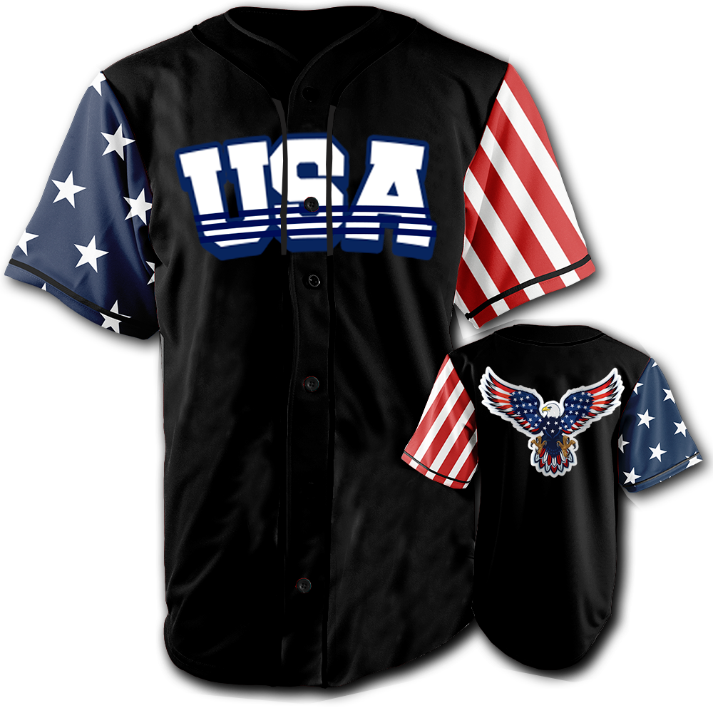 USA National Jersey™️ - Bald Eagle - Black (Small-5XL)