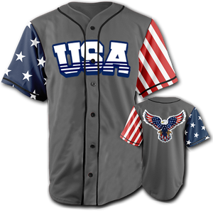 USA National Jersey™️ - Bald Eagle - Grey (Small-5XL)