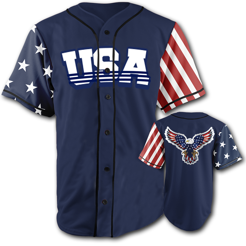 USA National Jersey™️ - Bald Eagle - Navy (Small-5XL)