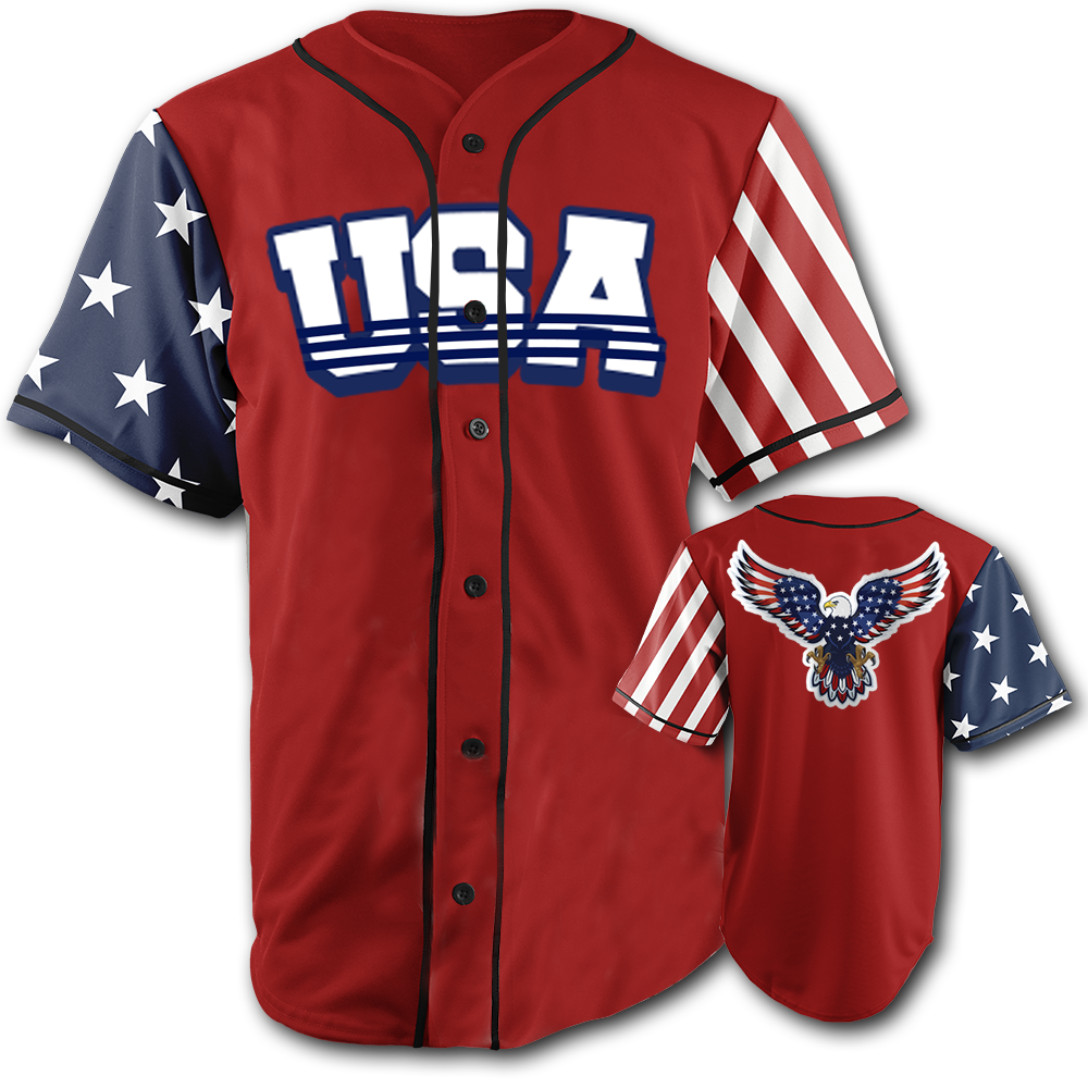 USA National Jersey™️ - Bald Eagle - Red (Small-5XL)