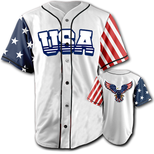 USA National Jersey™️ - Bald Eagle - White (Small-5XL)