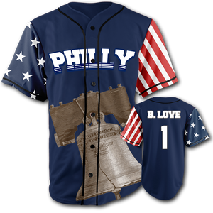 PHILLY City Jersey™️ - B. Love #1 - Navy (Small-5XL)