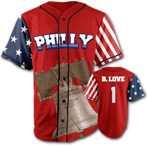 PHILLY City Jersey™️ - B. Love #1 - Red (Small-5XL)