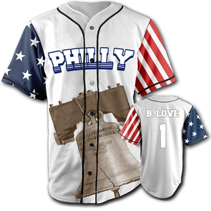PHILLY City Jersey™️ - B. Love #1 - White (Small-5XL)