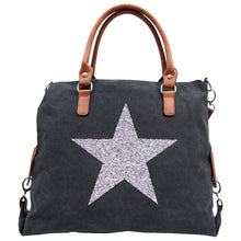 Load image into Gallery viewer, Canvas Tote - Star Power Black