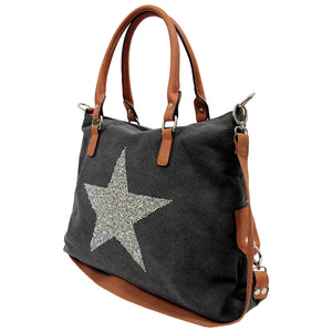 Canvas Tote - Star Power Black