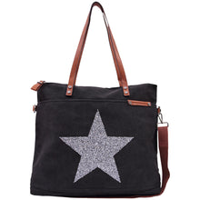 Load image into Gallery viewer, Tote - Star Power Black