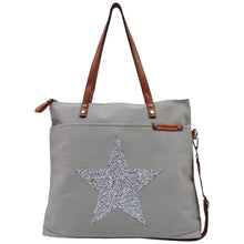 Load image into Gallery viewer, Tote - Star Power Light Grey