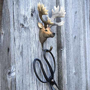 Hand Carved Wall Hook - Red Deer