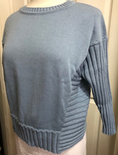 Load image into Gallery viewer, 100% Cotton - 3/4 Ribbed Sleeve Jumper