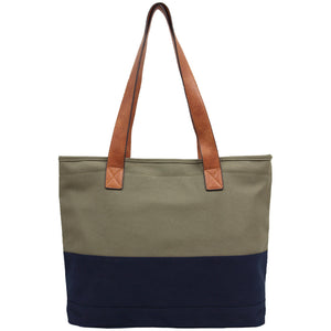 Candy Washed Canvas Tote - Khaki