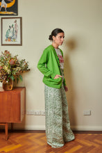 Load image into Gallery viewer, Merino Wool Cardigan - Lime Green