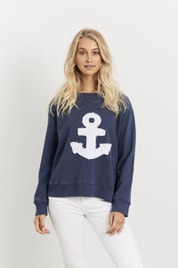 Frayed Anchor Windy -Navy/White Anchor