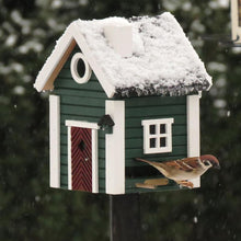 Load image into Gallery viewer, Birdhouse/Feeder - Green Cottage