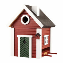 Load image into Gallery viewer, Birdhouse/Feeder - Red Cottage