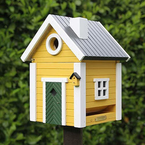 Birdhouse/Feeder - Yellow Cottage