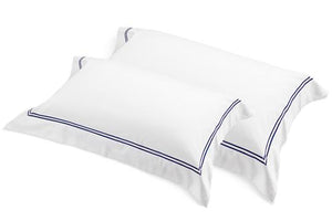 Flaxfield Linen Tailored Pair of Pillowcases - Navy