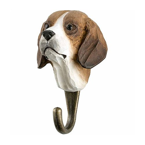 Hand Carved Wall Hook - Dog