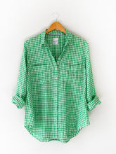Load image into Gallery viewer, HUT Oversized Linen Shirt - Green Gingham