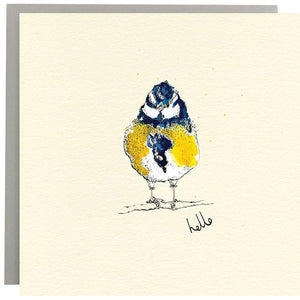 Anna Wright Card - Blue Tit Hello Card