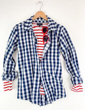 Load image into Gallery viewer, Irving & Powell Gingham Shirt - Navy/White