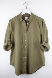 HUT Cotton Poplin Shirt - Khaki