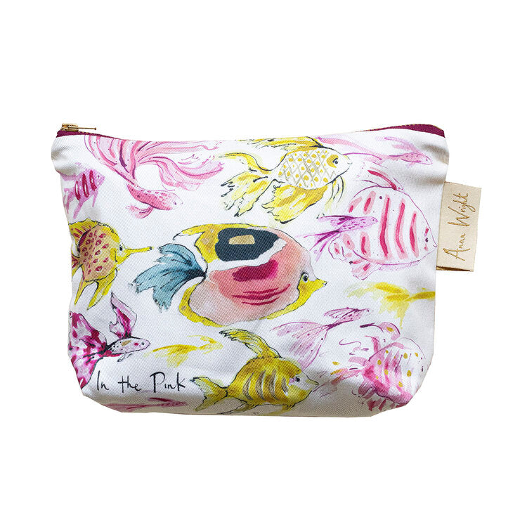 Anna Wright Make Up Bag - In The Pink
