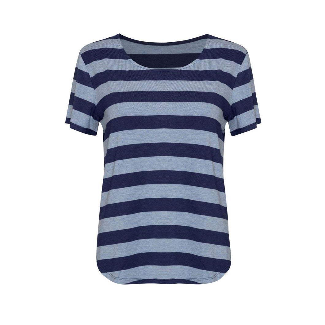 The Janis Tee - Blue Stripe