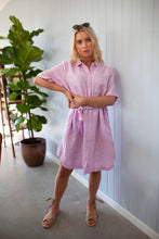 Load image into Gallery viewer, Linen Shirt Dress - Light Pink