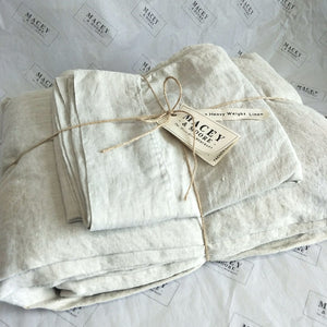 Pure French Linen Sheet Set - Oatmeal