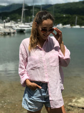 Load image into Gallery viewer, HUT Regular Fit Linen Shirt - Pink & White Gingham