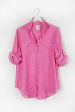 HUT Oversized Linen Shirt - Pink Chambray