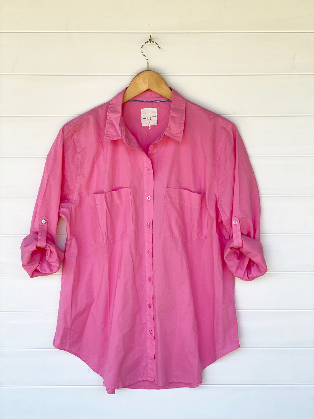 HUT Cotton Poplin Shirt - Pink Lemonade