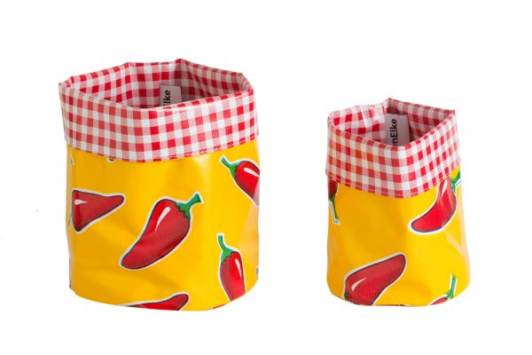 Mexican Oilcloth Nesting Pots - Yellow